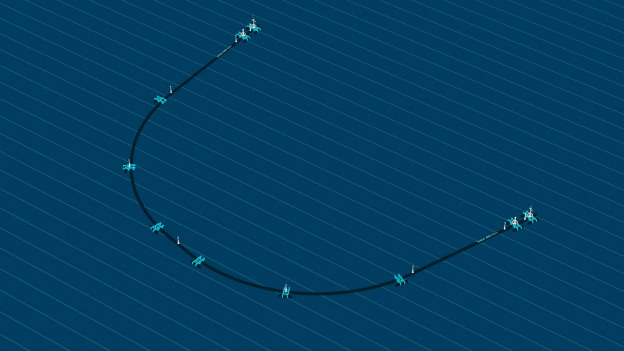 Illustration of System 001 of The Ocean Cleanup