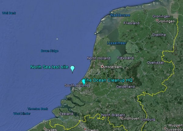 North Sea test site for cleanup system prototype