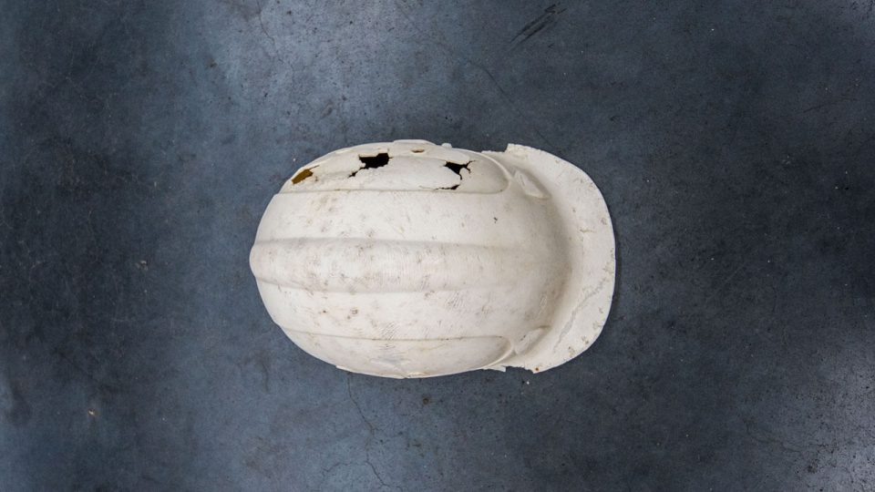 #02 - This hard hat dates back to 1989